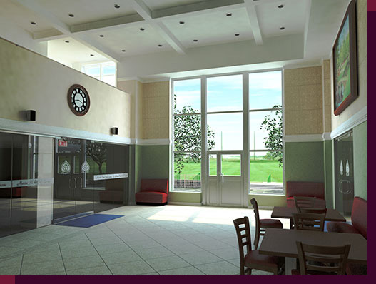 3d Rendering and Modeling of Golf Courses - Marine Park Golf Course - Clubhouse Center Hall Redesign - Rendering-01