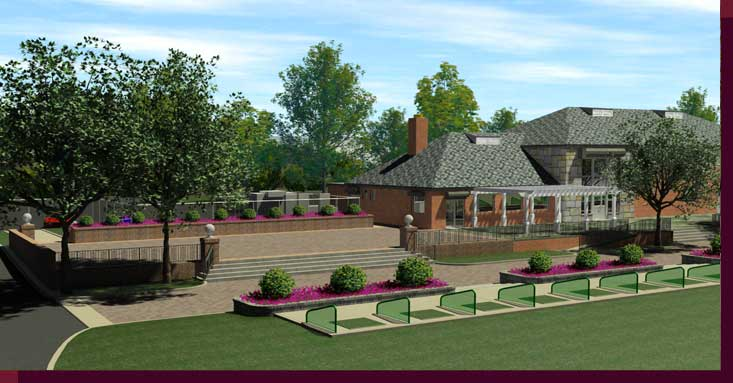 3d Rendering and Modeling of Golf Courses - Marine Park Golf Course - New Patio and Driving Range