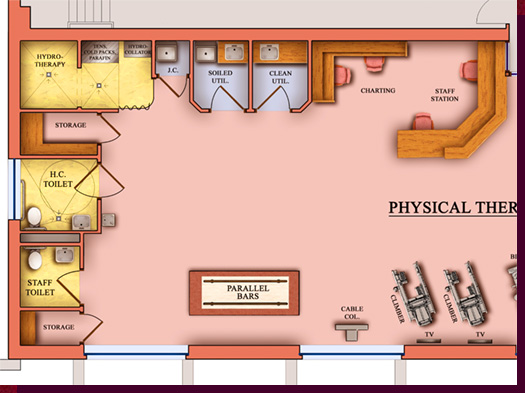 Floor Plans For Physical Therapy Clinic: Architectural Rendering & 3D Computer Modeling
