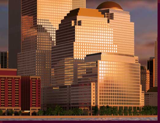 Twin towers rendering close up click on image to return to full view